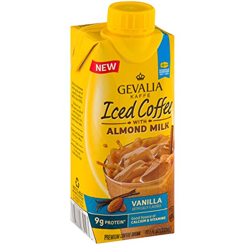 Amazon.com : Gevalia Kaffe Iced Coffee with Almond Milk, Vanilla, 11.1 oz : Grocery & Gourmet Food