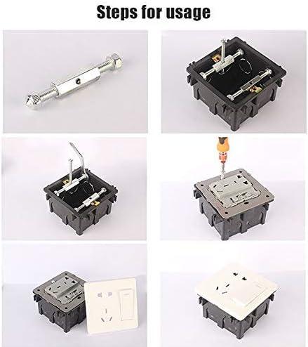 CTRICALVER 10 unids 118 tipo interruptor de casete reparaci/ón varilla soporte electricista accesorios montaje pared caja herramienta reparaci/ón