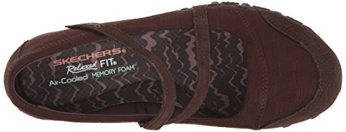 Women's Skechers Bikers Mary Flat Chocolate Fiesta Jane 11OxwUf