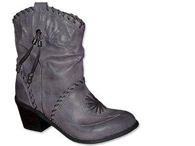 MUSTANG Westernstiefel in Grau Boot grau , Schuhgröße 41