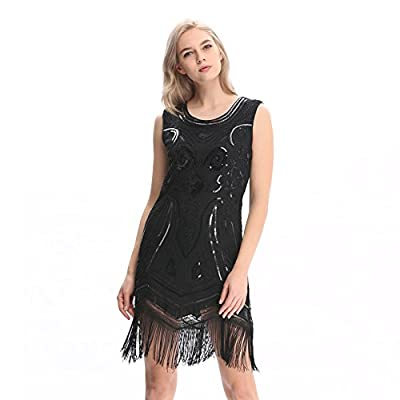 Pilot-Trade 20s Flapper Gatsby Charleston Sequin Bead Evening Cocktail Prom Dress