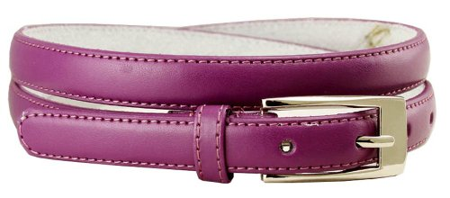 Accessories Purple Fashion (Women's Skinny Solid Color Ladies Fashion Dress Casual Belt 3/4
