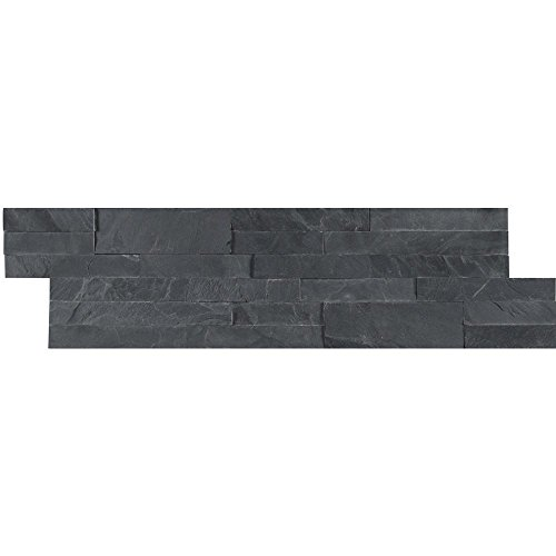 Vogue Peel & Stick Charcoal Slate Random Brick 21.75