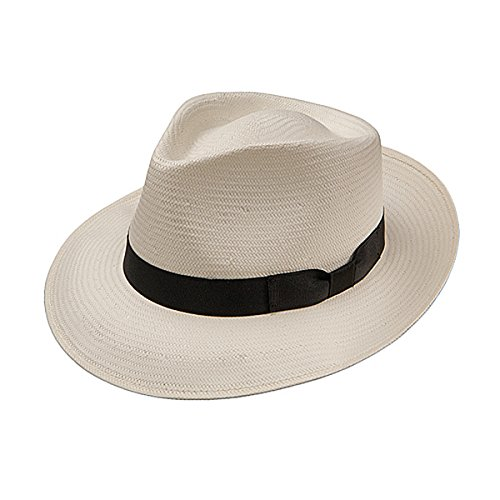 Tropical Wool Suits - Stetson Reward Shantung Straw Hat (X-Large, Natural)