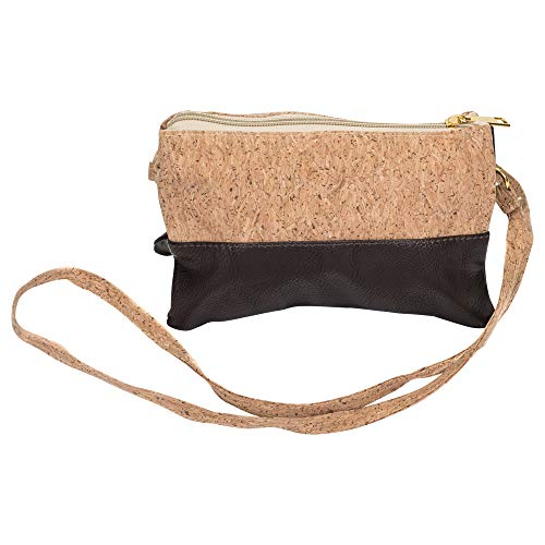 Cork and Leather 8 x 5 inch Crossbody Bag by First & Main