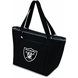 PICNIC TIME NFL Oakland Raiders Topanga Insulated Cooler Tote, Black