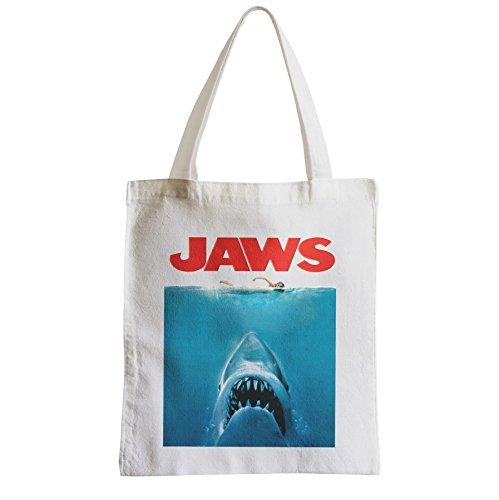 Grand Sac Shopping Plage Etudiant Jaws White Sharks Sea