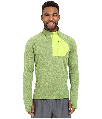 Impulse Shirt Zip 1/4 - The North Face Men's Impulse Active 1/4 Zip Pullover, Macaw Green Heather, XL