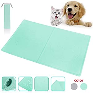 Fun Meows Silicone Dog cat pet Food and Water Mats Tray,Waterproof Non-Slip Durable Bowl mats Placemat, Made of Safe Soft Material Dog cat pet FDA Grade Feeding mat,Easy to Clean