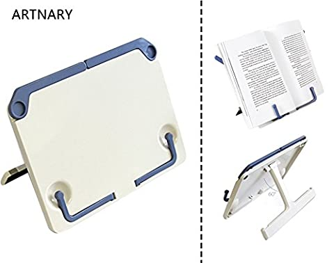 ARTNARY Portable Desktop Book Stands Music Sheet Holders Reading Prop iPad Tray Document Holder Bookrest With Foldable (Music Stand Top)