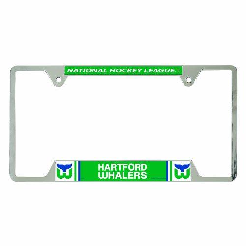 NHL Vintage Hartford Whalers Metal License Plate Frame ()