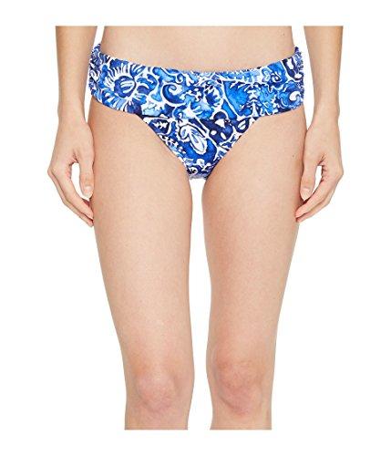 LAUREN RALPH LAUREN Women's Playa Floral Classic Shirred Banded Hipster Bottom Blue 14