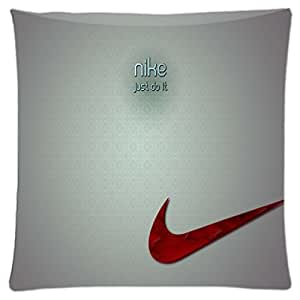 JUST DO IT Nike Logo ~ Durable Unique Throw Square Pillow Case 18X18 inches Fashionable Diy Custom Personalized Pillowcase Design by Engood