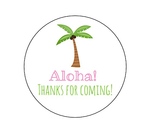 Palm Tree Seals Personalized - Palm Tree Aloha Stickers - Set of 20