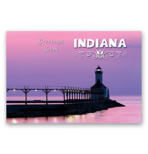 GREETINGS FROM INDIANA postcard set of 20 identical postcards. IN post cards. Made in USA. Indiana Postcard