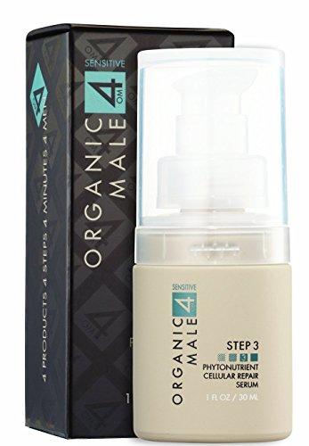 Omega 3 Repair (Organic Male OM4 Sensitive Step 3 - Phytonutrient Cellular Repair Serum (1.0 oz) Organic & Natural serum for all skin types including sensitive)