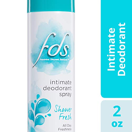 FDS Intimate Deodorant Spray All Day Freshness, Shower Fresh - 2 oz Bottle ()