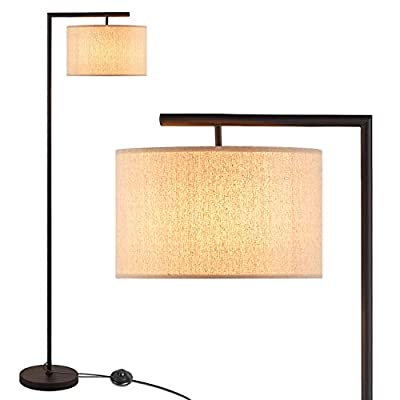 LED Modern Floor Lamp, Anbomo Standing Accent Light,Tall Pole Lamp with Hanging Drum Shade for Living Room, Bedrooms, Office