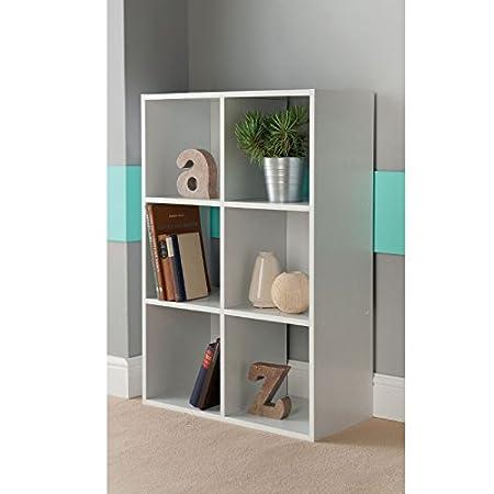 6 Cube Shelving Unit - White DVD BOOKS CD STORAGE SHELVES  sc 1 st  Amazon UK & 6 Cube Shelving Unit - White DVD BOOKS CD STORAGE SHELVES: Amazon.co ...