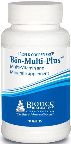Biotics Research Bio-Multi Plus ™ (Iron & Copper Free) - Multivitamin, Chelated Minerals, Emulsified fat-soluble vitamins, Iron Free, Copper Free, High antioxidants, SOD, Catalase 60 ct