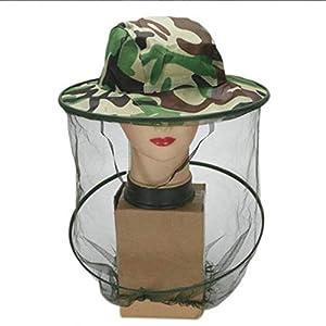 FinukGo Cappello Apicoltore Cappello Mimetico Esterno Cappello Ape Anti-zanzara all'aperto Cappello cespuglio Pesca Protezione Solare-Camuffamento 5 spesavip
