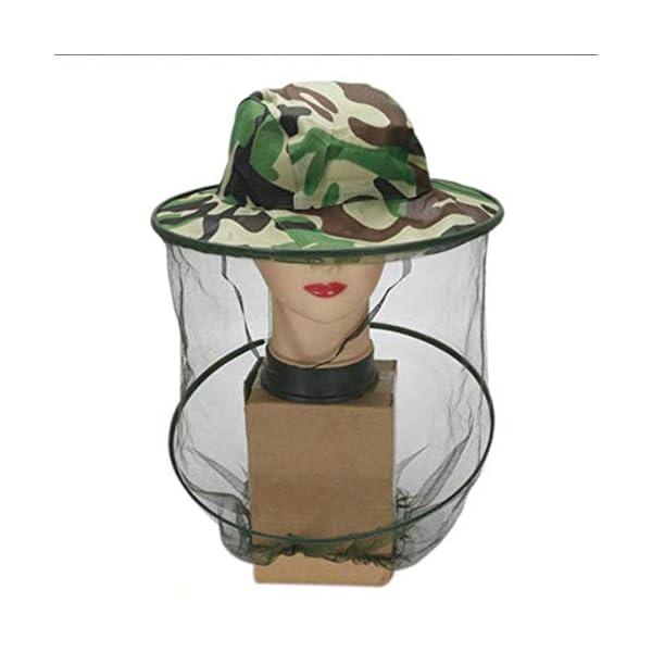 FinukGo Cappello Apicoltore Cappello Mimetico Esterno Cappello Ape Anti-zanzara all'aperto Cappello cespuglio Pesca… 1 spesavip