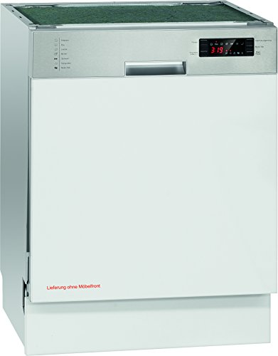 Bomann GSPE 884 Einbau-Geschirrspüler / A++ / 266 kWh/Jahr / teilintegrierte Ausführung 60 cm / 14 MGD / 3080 L/jahr / Edelstahlblende mit LED-Display
