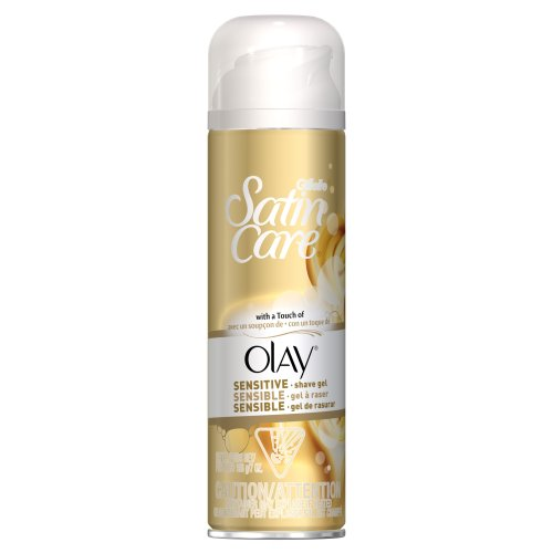 Gillette Satin Care with A Touch of Olay Shave Gel for Women, 7 oz