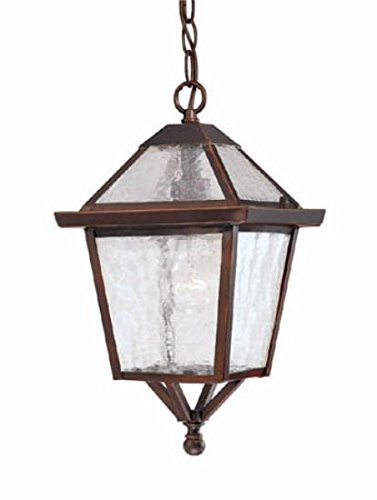 Acclaim 7616ABZ Bay Street Collection 1-Light Outdoor Light Fixture Hanging Lantern, Architectural Bronze - Architectural Pan
