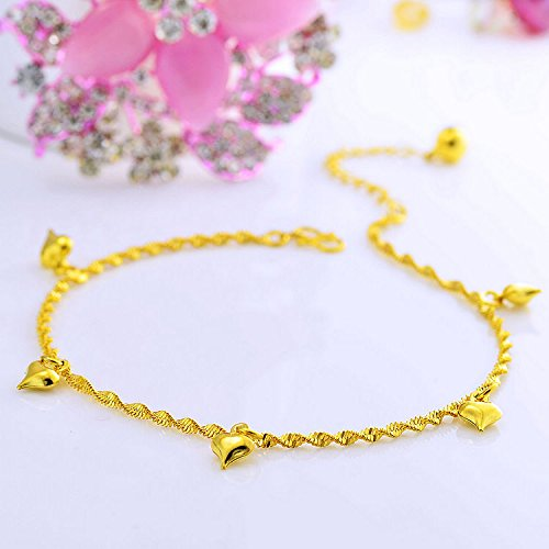 - TKHNE Genuine big promotion 24k gold-plated matte gold Foot Chain anklet ankle chain European currencies exquisite women girls models transporter Lulu Foot Chain anklet ankle chain birthday gift