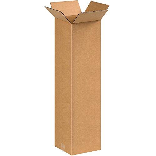 """Aviditi 8830 Single-Wall Tall Corrugated Box, 8"""" Length x 8"""" Width x 30"""" Height, Kraft"""