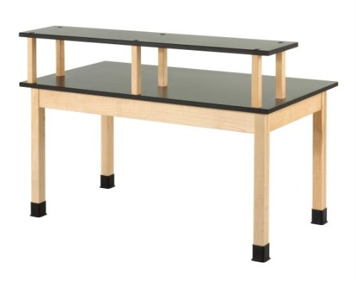 Diversified Woodcraft PR7144M30N Riser Maple Wood Plain Table with Phenolic Top, 60