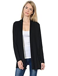 Women's Long Sleeve Jersey Cardigan (25+ Colors/S-XL)