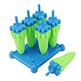 Ice Cube Mold ZTY66, 6Pcs Novelty Silicone Ice Cube Tray Mould Rocket Shape | Size: 14.2 x 11 x 13.8CM (Blue)