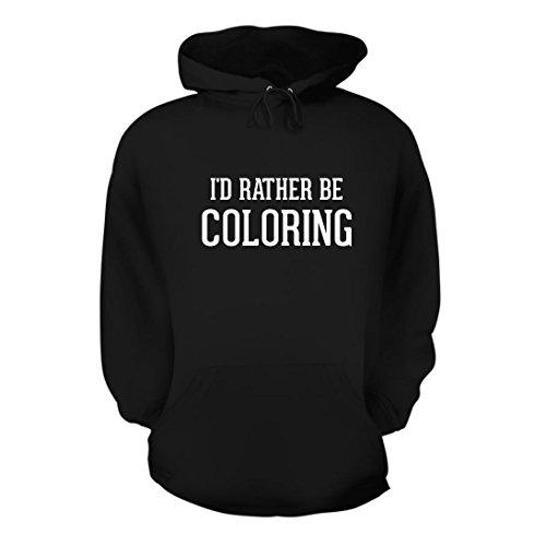I'd Rather Be Coloring - A Nice Men's Hoodie Hooded Sweatshirt, Black, Large