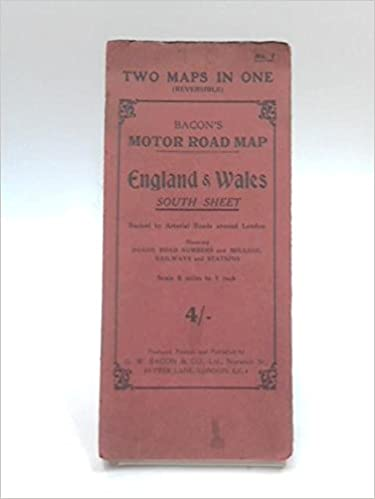 Map Of Uk No Labels.Bacon S Reversible Maps No 1 Motor Road Map Of Southern England