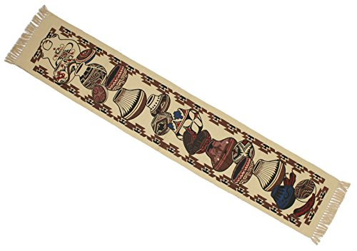 Native Pottery American Southwestern (Splendid Exchange Southwestern Style Woven Cotton Stencil Table Runner, 72 Inches by 13 Inches, Pottery)