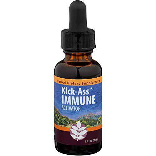 WishGarden Herbs – Kick-Ass Immune, Organic Herbal Immune Booster Promotes Healthy System Response and Resistance (1Ounce Dropper)