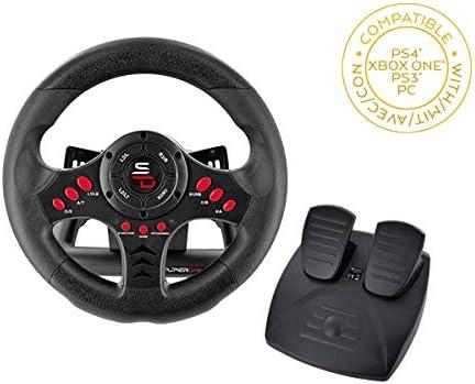 Comprar Superdrive - Volante de carreras SV400 con pedales y paletas de cambio para PS4 - Xbox One - PC y PS3