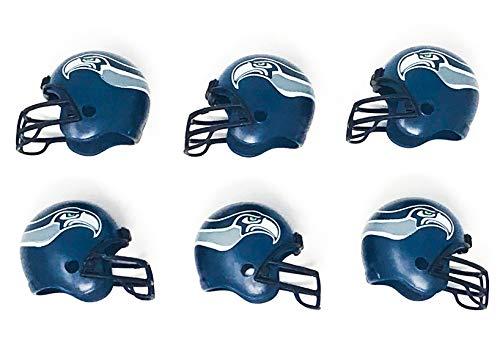 (NFL 6 Pack Seattle Seahawks 2017 Helmet Mini Football 2