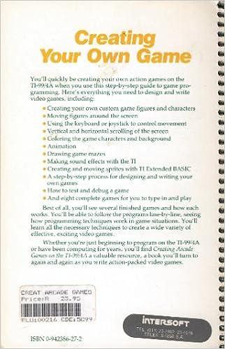 Creating Arcade Games on the Ti-99/4A: Seth McEvoy: 9780942386271
