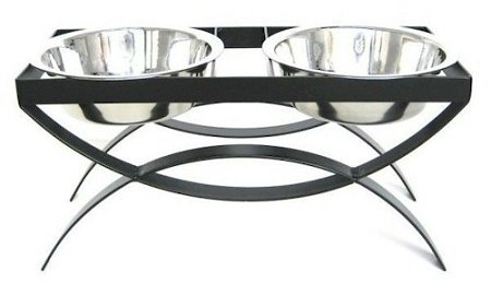 SeeSaw Double Elevated Dog Bowl – Large/Mocha – RDB18-L/M, My Pet Supplies