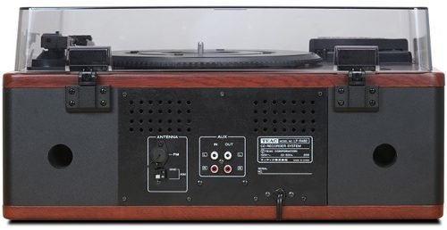 Teac All-In-One Hi-Fi Stereo Turntable CD Player/Recorder/Cassette/Digital AM/FM Radio Tuner Mega Bass Reflex Stereo Sound System by Teac