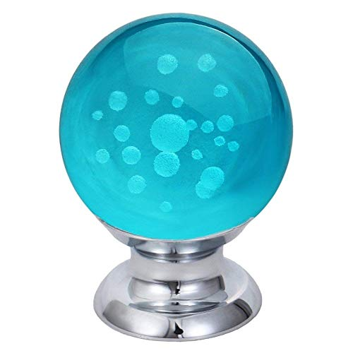 Kasuki CSS 10 Pcs Crystal Cabinet Knobs Round Glass Kitchen Cupboard Drawer Dresser Bookcase Pull Handle