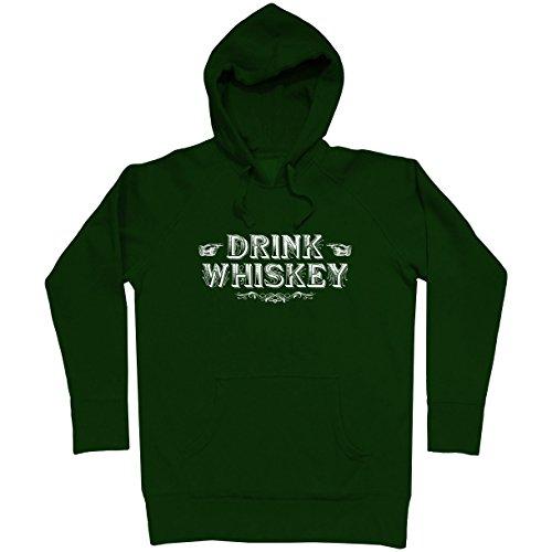 Seagrams Whiskey - Smash Vintage Men's Drink Whiskey Hoodie - Dark Green, Small