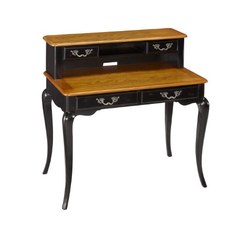 Home Styles 5519-162 The French Countryside Student Desk and Hutch, Oak and Rubbed Black