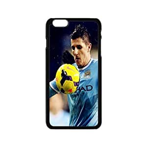 Manchester City FC Football Club Classic Design Print Black Case With Hard Shell Cover for Apple iPhone 6 4.7""