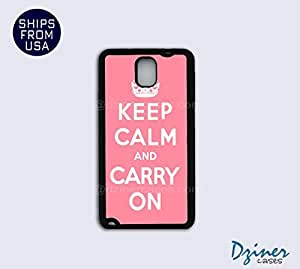 Galaxy Note 3 Case - Keep Calm Carry On Pink