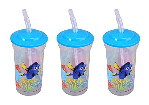 3-Pack Disney-Pixar Finding Dory 16oz Sports Tumbler with Lid & -