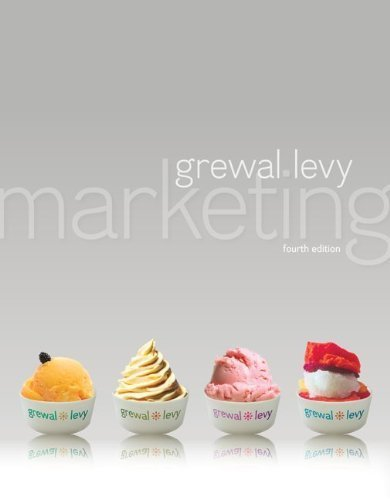 Marketing with ConnectPlus 4th (fourth) Edition by Grewal, Dhruv, Levy, Michael published by McGraw-Hill/Irwin (2013)